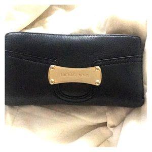 Michael Kors Wallet, Black Open Trifold
